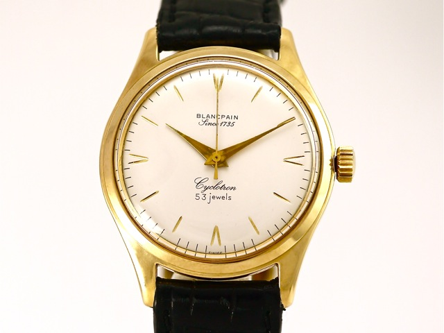Breitling Watches For Sale >> Blancpain, Cyclotron, 18k Yellow Gold, Bj 1960