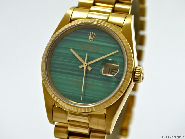 Rolex, Datejust, Ref. 16018, Stone Dial, 18k Yellow Gold