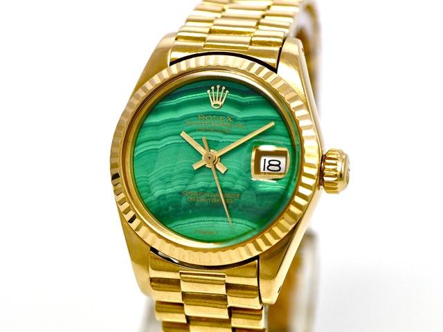 Rolex Lady Datejust, Ref. 6917 with Malachite Dial, 18k ...