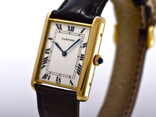 Breitling Watches For Sale >> Cartier Vintage Tank Jumbo Automatic, 18k Yellow Gold, Bj ...