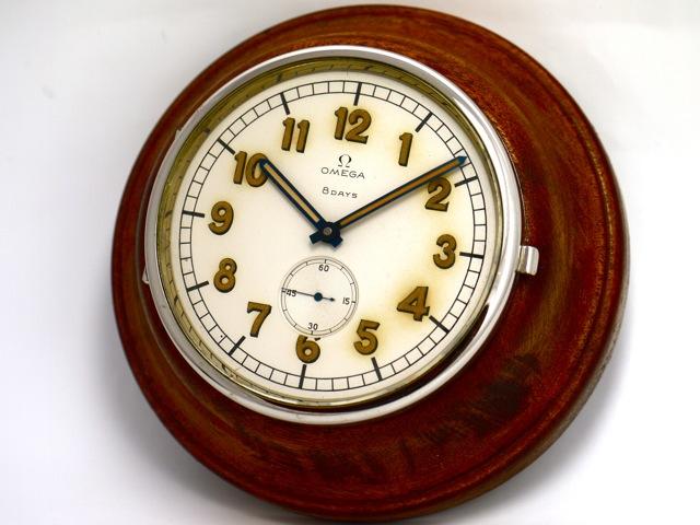 Omega Vintage Sailing Ship Wall Clock 8 Days Movement