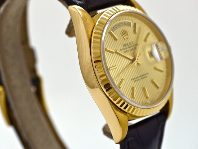 Rolex Day Date Gold Leder