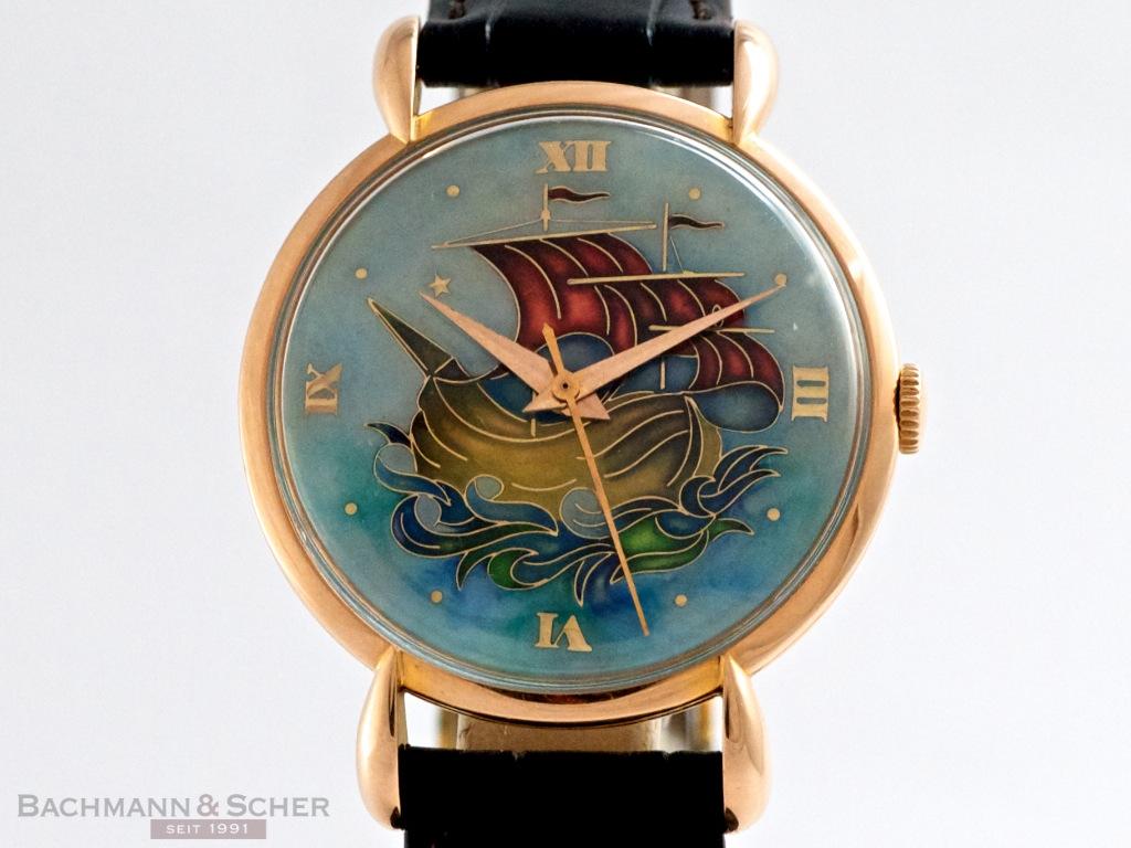 Jaeger Lecoultre Vintage Gentleman 180 S Watch 18k Rose Gold