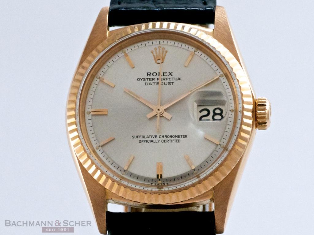 Rolex Vintage Datejust Man Size Ref 1601 18k Rose Gold