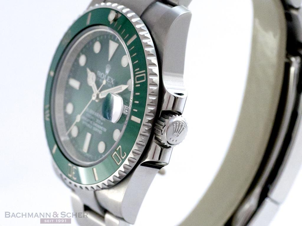 rolex submariner date hulk ref 116610lv stainless
