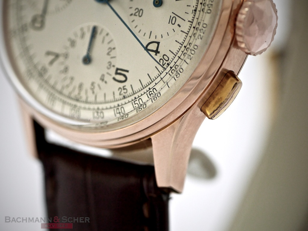 Perpetual Calendar Watch >> Breitling Vintage Chronograph 18k Rose Gold Ref-787 Bj- 1950