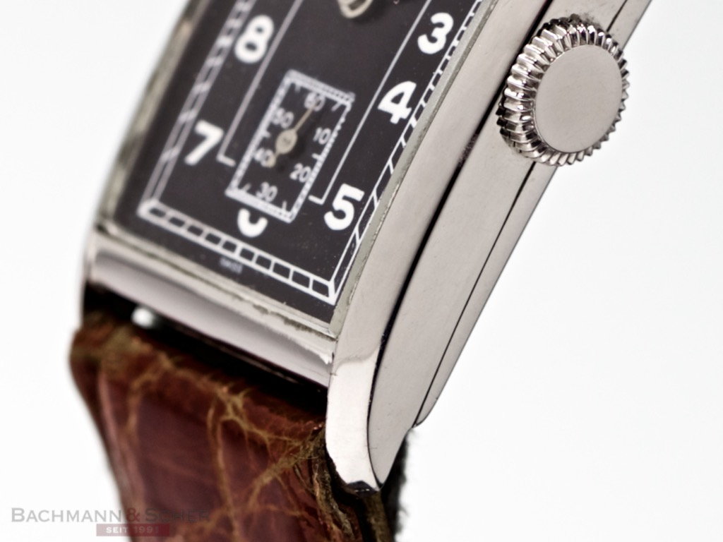 Perpetual Calendar Watch >> IWC Vintage Rectangular Gentlemans Watch Staimless Steel ...