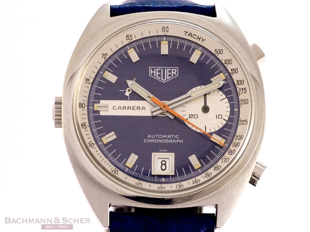 heuer vintage carrera automatic chronograph ref