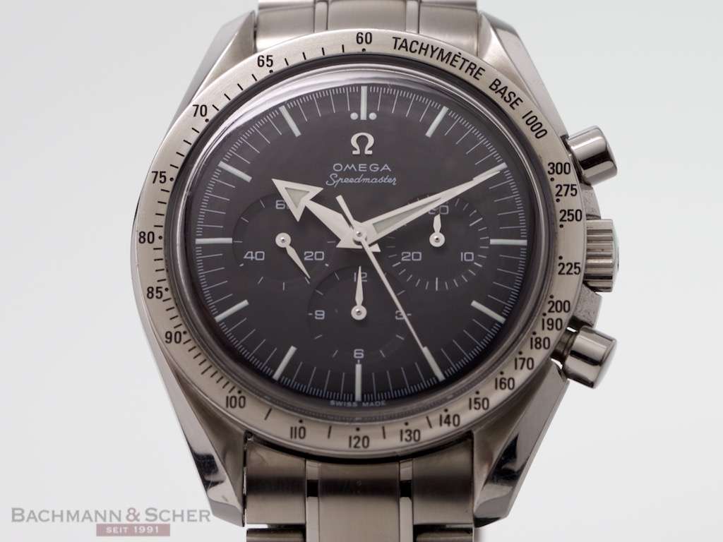Perpetual Calendar Watch >> Omega Speedmaster Broad Arrow Ref-35945000 Stainless Steel ...