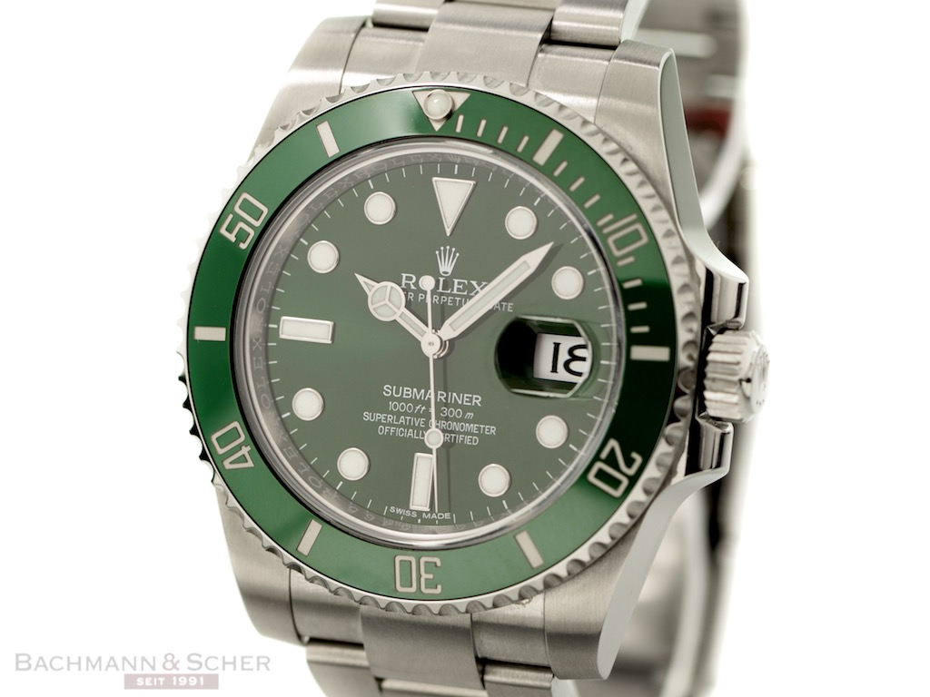 rolex submariner date hulk ref 116610lv stainless steel box papers bj 2016. Black Bedroom Furniture Sets. Home Design Ideas