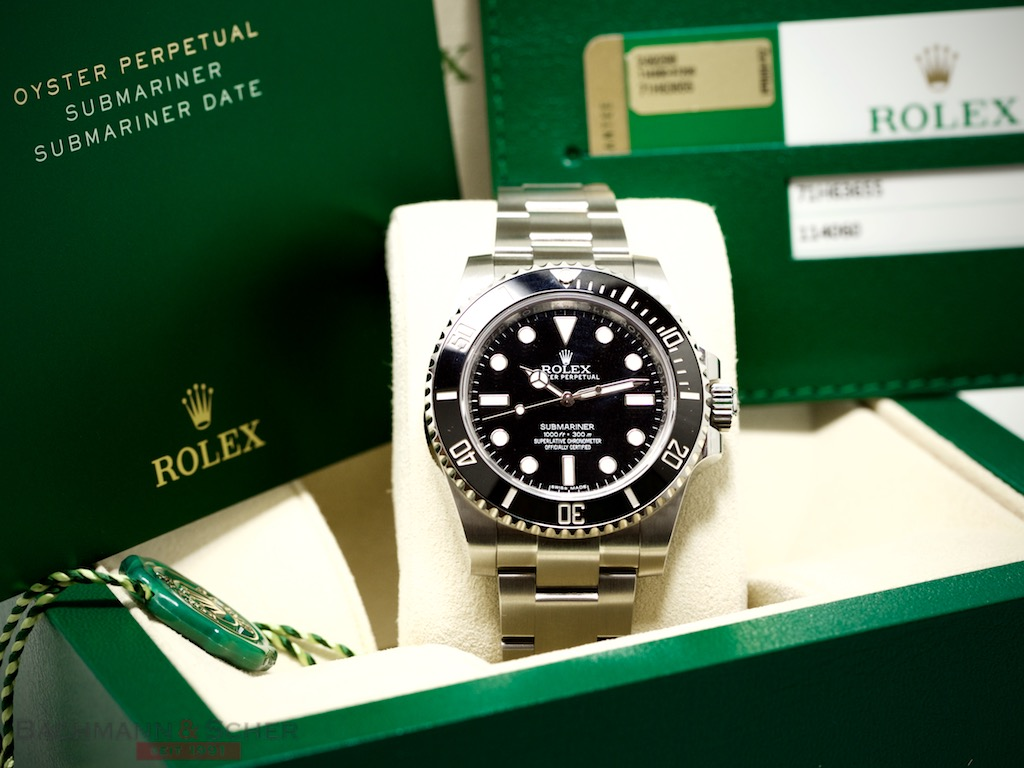 rolex submariner no date ref 114060 stainless steel box papers bj 2016 lc 100. Black Bedroom Furniture Sets. Home Design Ideas