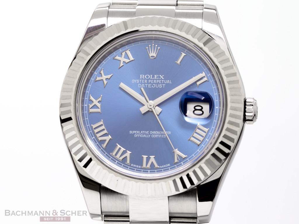 Rolex Datejust Ii Ref 116334 Stainless Steel 18k White