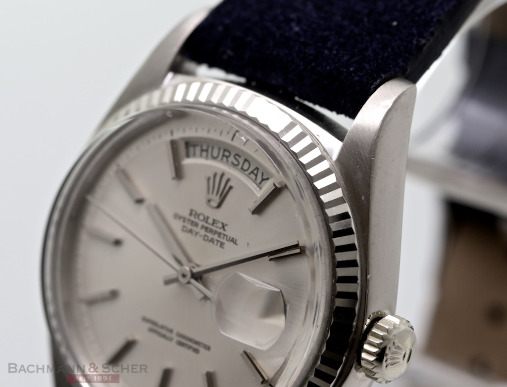 Rolex Vintage Day-Date Ref-1803 18k White Gold Bj-1973