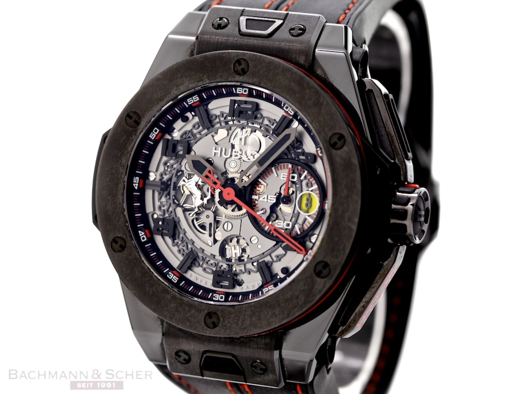 hublot big bang ferrari chronograph ref 401cx0123vr. Black Bedroom Furniture Sets. Home Design Ideas