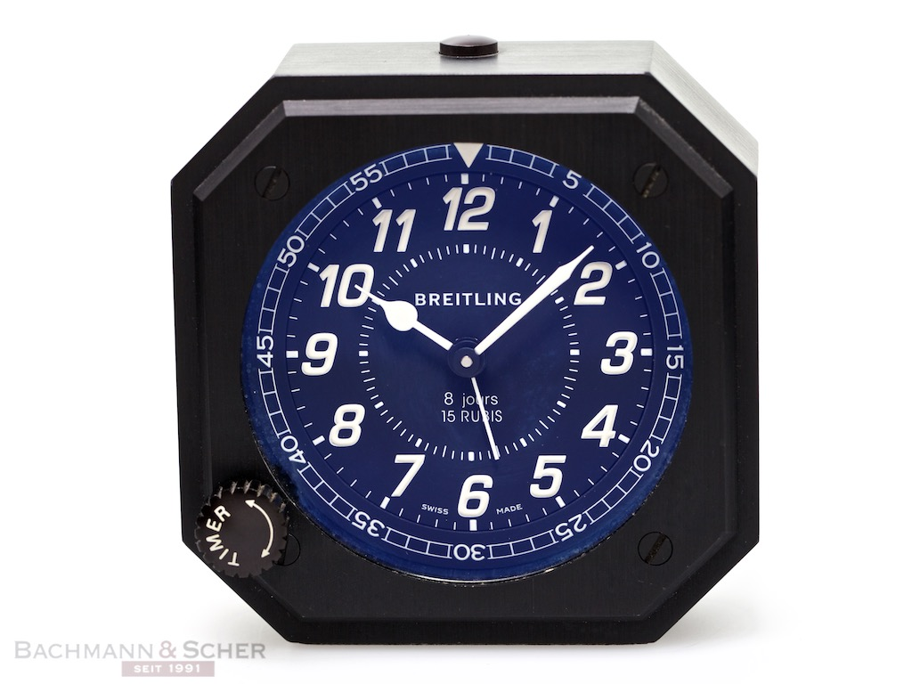 breitling table alarm clock mechanical 8