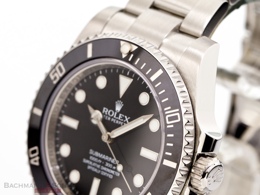 rolex submariner no date ref 114060 stainless steel box papers bj 2013 lc100. Black Bedroom Furniture Sets. Home Design Ideas
