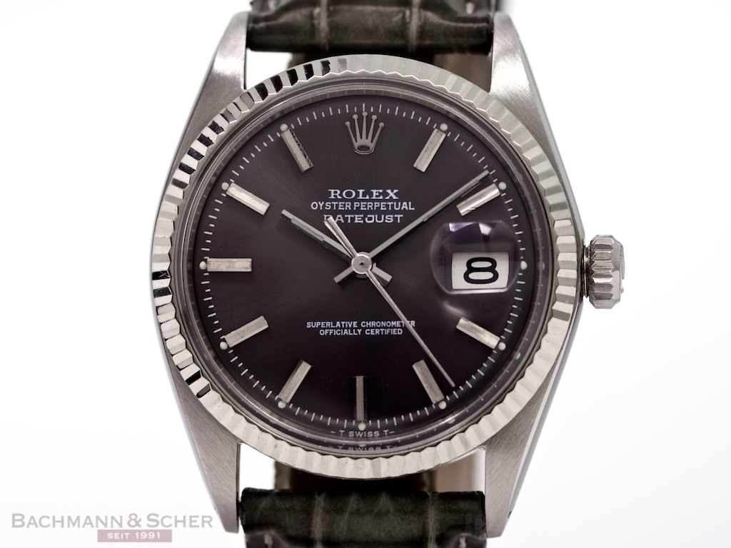 Leather Phone Case >> Rolex Vintage Datejust Ref-1601 Stainless Steel Bj-1969
