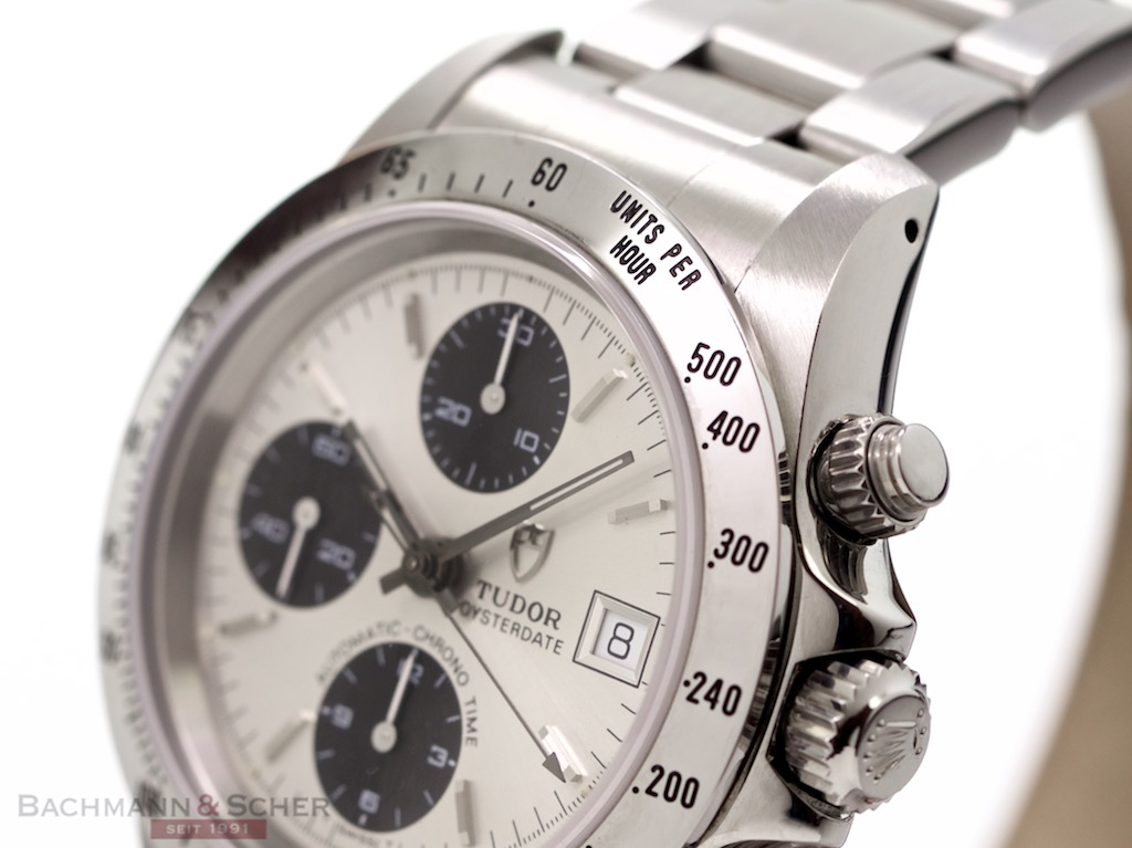 Perpetual Calendar Watch >> Tudor Oysterdate Chronograph Ref-79280 Stainless Steel Papers