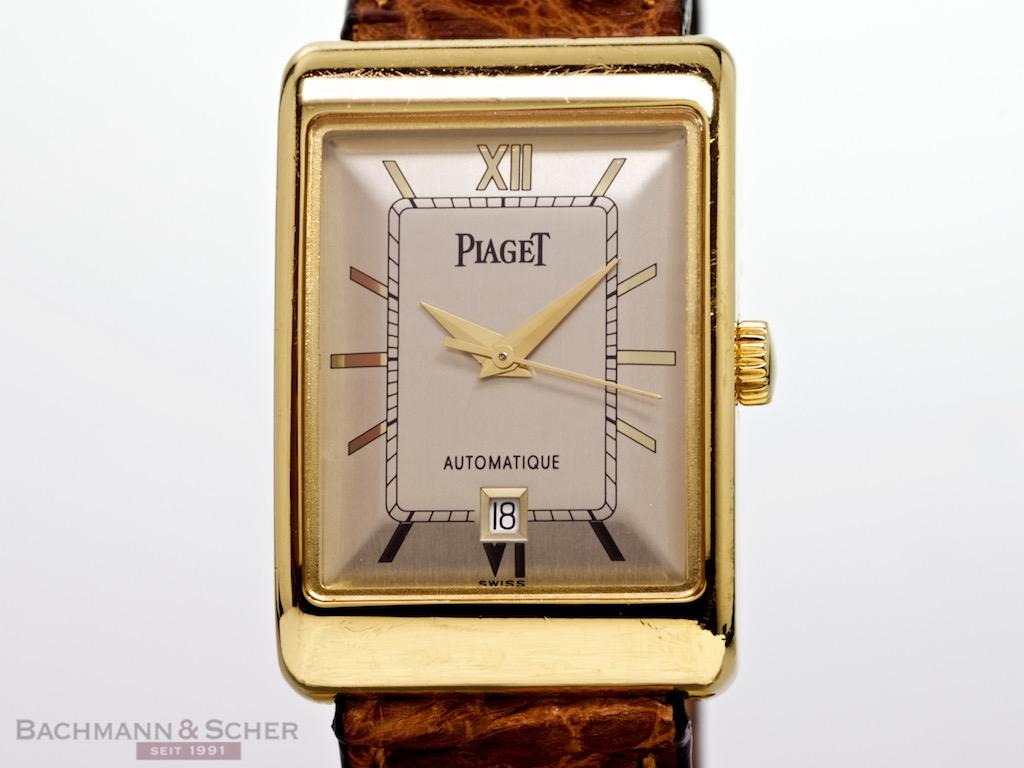 Piaget Rectangular Automatic Ref 18952 18k Yellow Gold Box