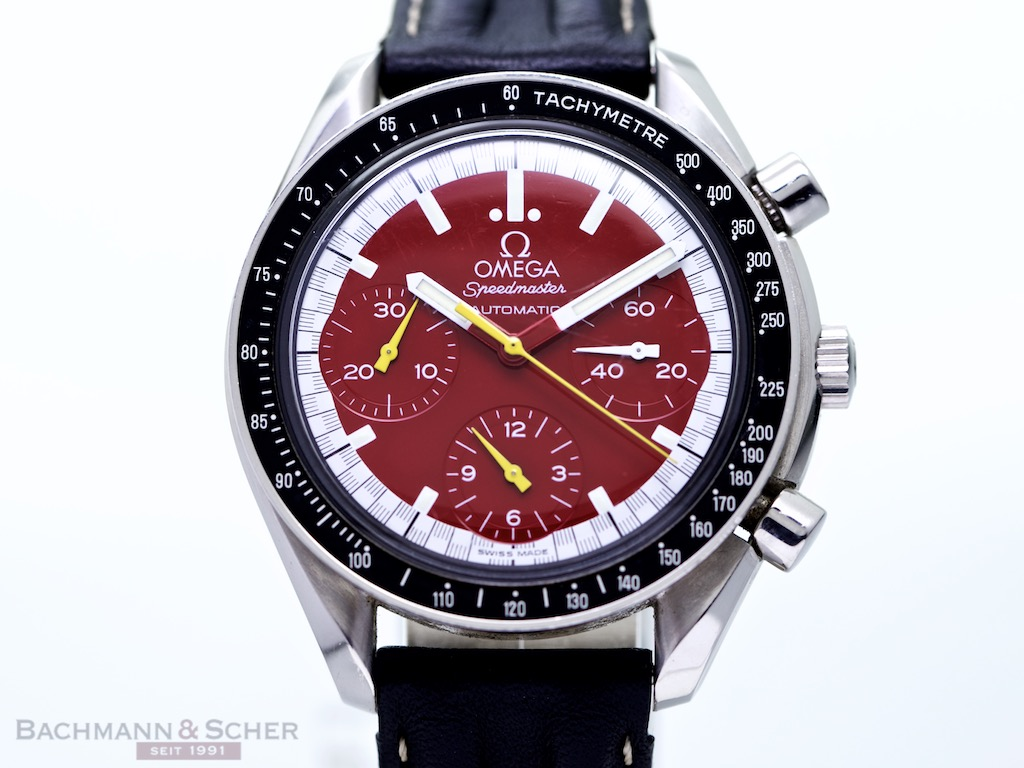 Breitling Watches For Sale >> Omega Speedmaster Schumacher Stainless Steel Ref- 3510 Bj 1997