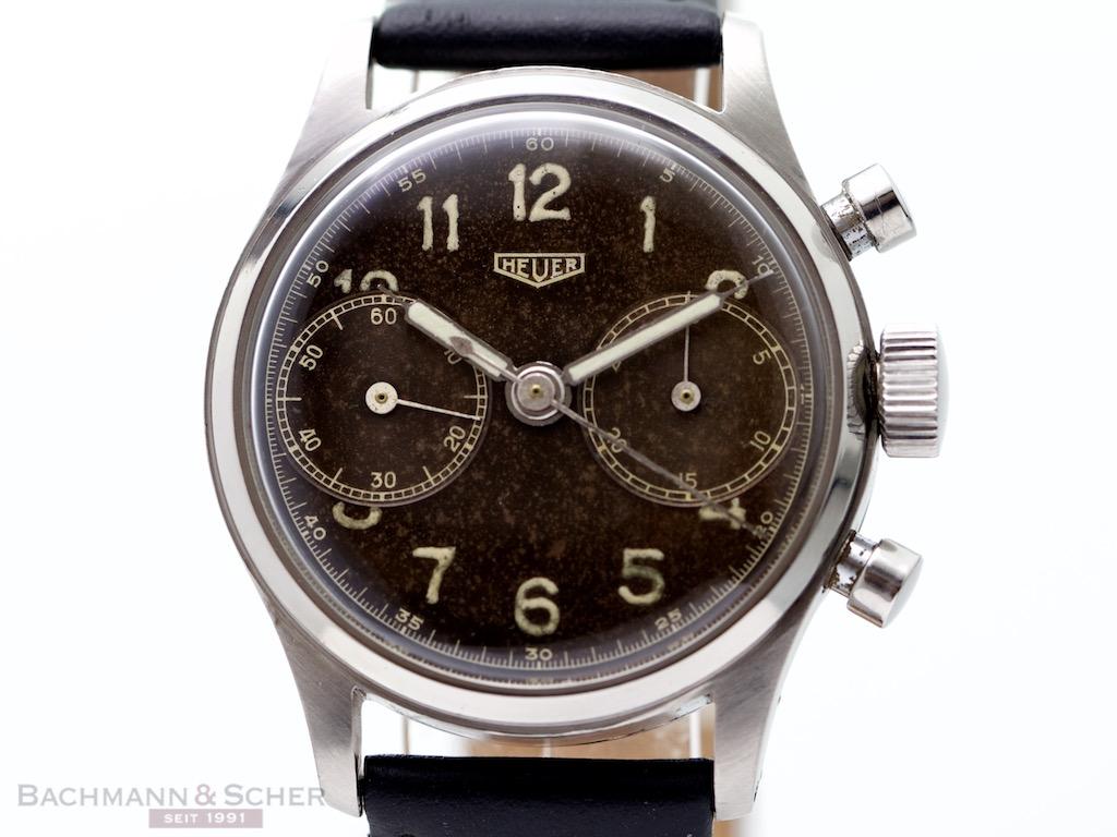Heuer Vintage Chronograph Stainless Steel Bj 1954