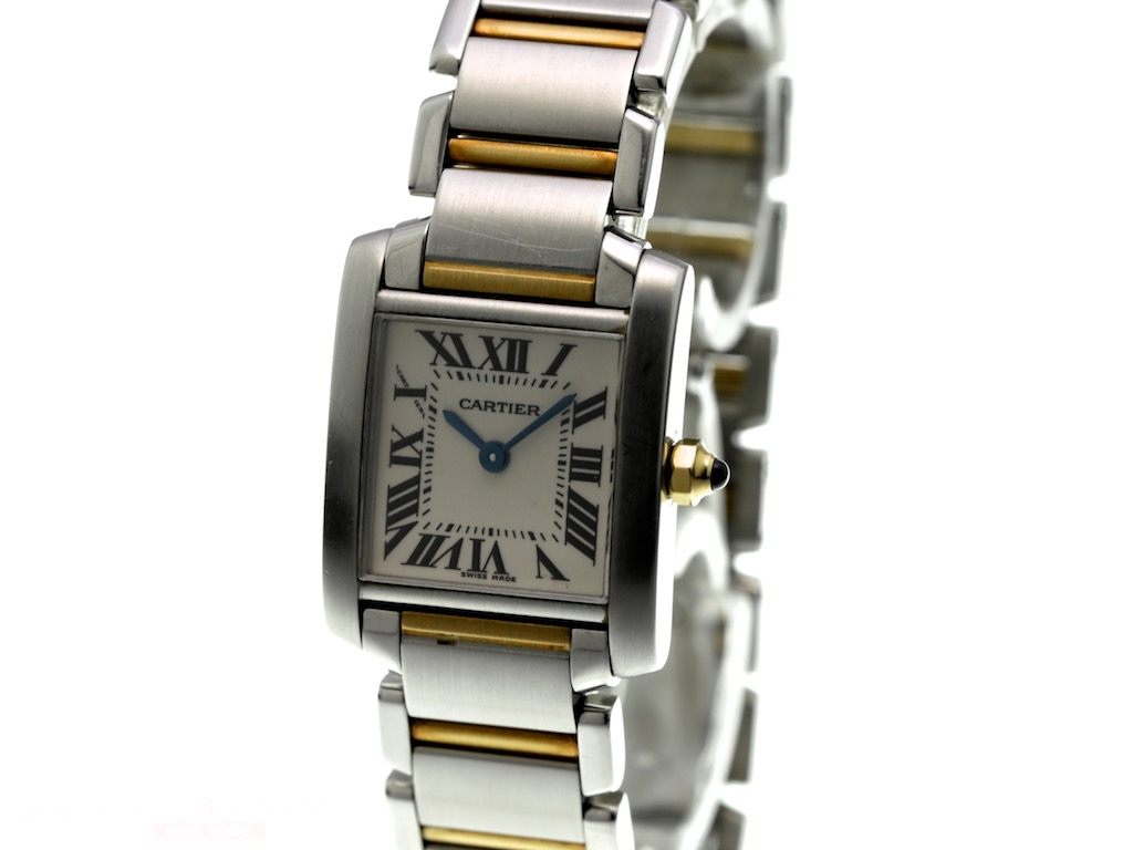 ebb08c894c464 Cartier Tank Francaise Lady Ref-2384 18k Yellow Gold/Stainless Steel ...