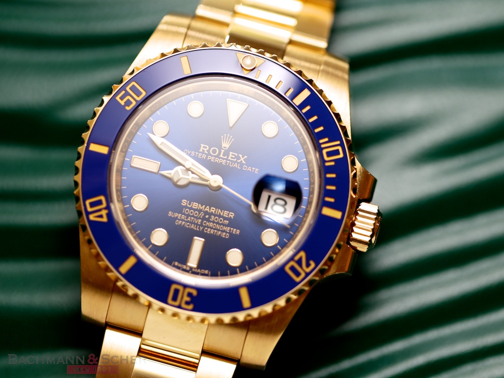 online store 56176 72468 Submariner Date Ref-116618LB 18k Yellow Gold Box Papers Bj ...